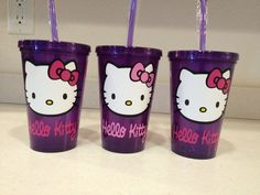 Children's Hello Kitty and Spider-Man Bolero (Plastic) Personalized Tumbler. Great for Kids!! on Etsy, $10.00