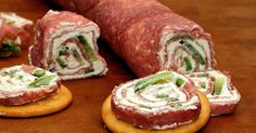 My favorite late night indulgence is salami and cream cheese on crackers. Salty cured sausage, sweet creamy cheese, crisp buttery cracke...