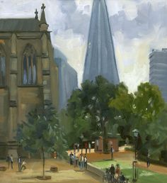 Southwark London Plein Air Oil Painting Wapping Group