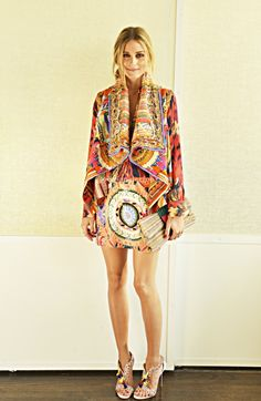 "Olivia Palermo features our Haute Hippie Ikat Printed Blouse for her ""30 Looks for 30 Days"" Feature on OliviaPalermo.com"