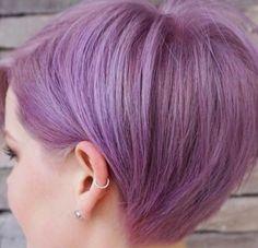 Lila renk neon pastel arası saç boyası kuaför kesimi ile marjinal trend model   Kadınca Fikir - Kadınca Fikir