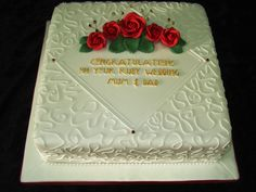 Pin Ruby 40th Wedding Anniversary Cake A 6 Vanilla Sponge To On