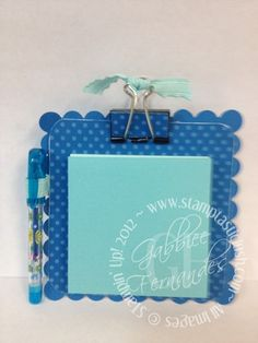 Stampin Up! Post It Note Desktop with Pen