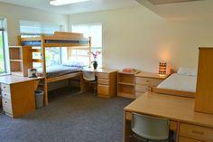 triple dorm room layout - Google Search