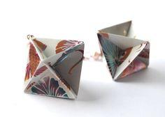 Origami Earrings Dangle Earrings Modern Earrings by MAGcraftsy, $15.99
