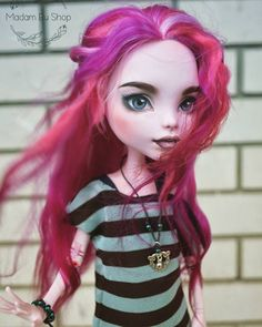 Monster High Doll Clothes, Custom Monster High Dolls, Monster High Repaint, Custom Dolls, Doll Wigs, Doll Hair, Ooak Dolls, Ever After High, Pretty Dolls