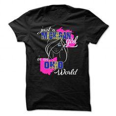 Just A Michigan Girl In Ohio World - #funny gift #mason jar gift. PRICE CUT => https://www.sunfrog.com/Funny/Just-A-Michigan-Girl-In-Ohio-World-Black-24579724-Guys.html?68278