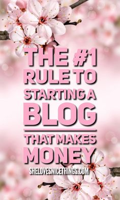 You can start a #blog that makes you money, and lets you quit that job that you hate so much. But there's one rule that you absolutely MUST follow... #marketing #entrepreneur