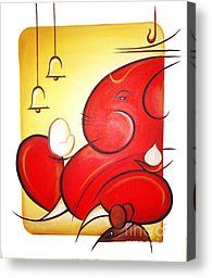 Lord Ganesha Canvas Print by Art 'n' Soul. All canvas prints are professionally printed, assembled, and shipped within 3 - 4 business days and delivered ready-to-hang on your wall. Choose from multiple print sizes, border colors, and canvas materials. Ganesha Drawing, Lord Ganesha Paintings, Ganesha Art, Krishna Painting, Madhubani Painting, Ganesha Rangoli, Diwali Rangoli, Easy Rangoli, Indian Art Paintings