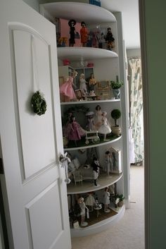 Radius cabinet in doll room | by think_pink1265
