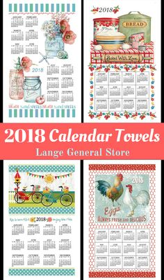 Shop Now! Continue the homespun towel calendar tradition by hanging one in your home or giving them as gifts!