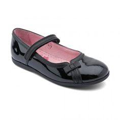Claudia, Black Patent Girls Riptape Casual Shoes - Girls School Shoes - Girls Shoes http://www.startriteshoes.com/girls-shoes/school-shoes/claudia-black-patent-girls-riptape-school-shoes