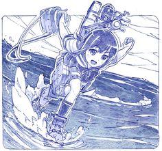 「吹雪、行きます!」/「さきの新月」のイラスト [pixiv]