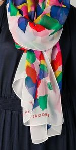 The colorful scarf!!