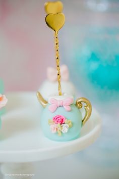 Tea kettle cake pop from a Pastel Glam Alice in Wonderland Birthday Party on Kara's Party Ideas | KarasPartyIdeas.com (15)
