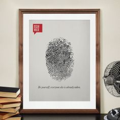 Minimalist Quotation Print - Oscar Wilde via Etsy