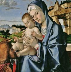 Andrea Mantegna: Madonna and Child with Saint
