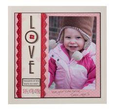 "Love scrapbook page (8"" x 8"")"