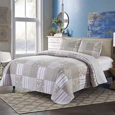 Lovely Bedding Printed Quilt Set Queen 3 Pc Bedspread Coverlet Soft Comfort New #SLPR