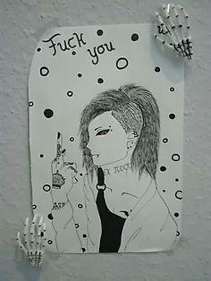 Uta (Tokyo Ghoul) Uta is so cool (i luv him) •^•    drew it myself