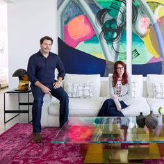 Tour Megan Mullally and Nick Offerman's Colorful Hollywood Hideaway