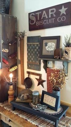 primitive country home decor : unchanged tradition Primitive Decorating Ideas Primitive Kitchen Decor Cosy Primitive Country Decor Best Decorating Ideas On Cheap Primitive Home Primitive Decorating Ideas For Primitive Homes, Primitive Living Room, Primitive Kitchen Decor, Prim Decor, Primitive Furniture, Primitive Crafts, Country Primitive, Rustic Decor, Farmhouse Decor