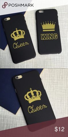 IPHONE 7 & 7 PLUS CASE FOE COUPLES QUEEN & KING. IPHONE CASE FOE COUPLES QUEEN & KING. AVAILABLE FOR IPHONE 7 AND 7 PLUS LIMITED QUANTITY. ❤️ PLEASE SELET THE RIGHT SIZE, I'M NOT RESPONSIBLE IF YOU CHOOSE THE WRONG SIZE FOR YOUR PHONE. ❤️ THE PRICE IS FOR ONE CASE Accessories Phone Cases