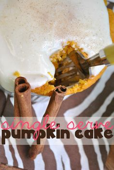 Something Swanky: desserts and designs.: Single Serve Pumpkin Cake with Cream Cheese Frosting using Stevia in the Raw