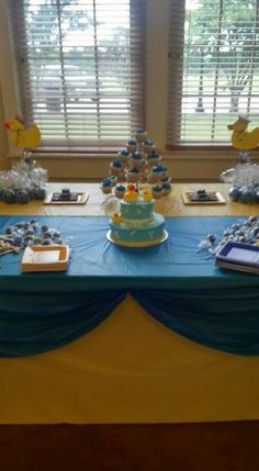 Baby Shower i did Breakfast At Tiffanys, Baby Boy Shower, Table Decorations, Cake, Desserts, Food, Home Decor, Tailgate Desserts, Deserts