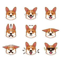 96a15f83 Corgi Dog Emoji Emoticon Expression - Buy this stock vector and explore  similar vectors at Adobe Stock