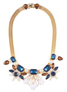 #SPDwishlist  Shop Prima Donna - Plutonium Jewel Strand Necklace Blue/White