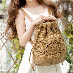 Bohemian style 758082549751985504 - Bohemian Straw Drawstring Backpack Source by wanahavit_pin Backpack Bags, Drawstring Backpack, Tote Bag, Tie Dying Techniques, Crochet Shoulder Bags, Crochet Backpack, Fashion Bags, Women's Fashion, Straw Handbags