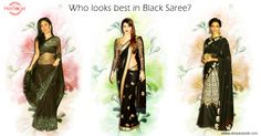 These ‪#‎Bollywood‬ divas were spotted in gorgeous black sarees in different events. Who according to you looks better?  #KareenaKapoor #PriyankaChopra #DeepikaPadukone
