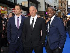 A closer look at three of the stars of 'The Fast & The Furious 6', Paul Walker, Vin Diesel, and Tyrese Gibson~