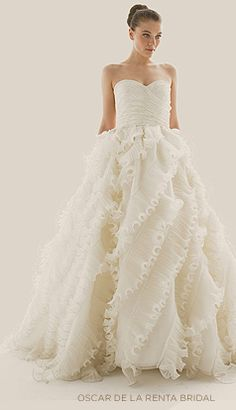 obviously I'm not looking at wedding gowns but when I see one that catches my eye, I just have to look ... but this one made me gasp !! it's so beautiful so now I'm looking at my granddaughters ...sssshhhhhh --- DON'T TELL THEIR MOM AND DAD!!!!