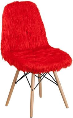 SHAGGY DOG RED ACCENT CHAIR #PinkChair
