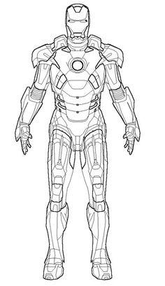Iron Man Marvel : Iron Man Coloring Pages Free Printable