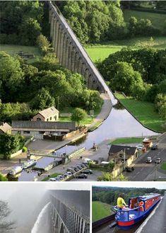 Pontcysyllte Aqueduct in Wales, designed by engineer Thomas Telford