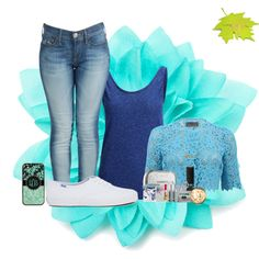 """say hey to autumn"" by lurve-music on Polyvore.  Pretty blue outfit perfect for back to school.  Matching iphone case #togildthelily"