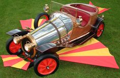Chitty Chitty Bang Bang - For the 1968 film, six cars were created, including a fully functional road-going car with UK registration GEN 11. This car was designed by the film's production designer, Ken Adam, and cartoonist and sculptor Frederick Rowland Emett, built by Alan Mann Racing in Hertfordshire in 1967, fitted with a Ford 3000 V6 engine and automatic transmission and allocated a genuine UK registration.