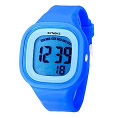 Blue Boys Students Silicone Teens Digital Watch -- You can find more details by visiting the image link. (Note:Amazon affiliate link)