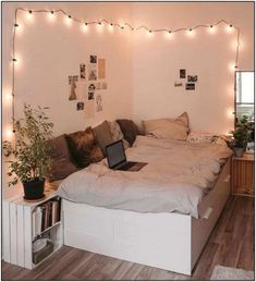 Cute Bedroom Ideas, Room Ideas Bedroom, Small Room Bedroom, Cozy Bedroom, Bedroom Designs, Girls Bedroom, Master Bedroom, Bed Ideas, Bedroom Furniture