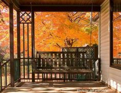 I could enjoy viewing God's paintbrush while sitting on the front porch!