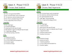 Hcg Sample Menu Phase   Google Search  Hcg P