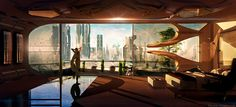 civilization fiction, Sanctuary & Room With A View, Christian Hecker Spaceship Interior, Futuristic Interior, Futuristic City, Futuristic Architecture, Interior Architecture, Arte Do Pulp Fiction, Sci Fi Stadt, Games Design, Sci Fi Kunst