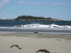 "Popham Beach, Maine - great beach house rental in 2004. Same beach from ""Message in a Bottle"" movie."