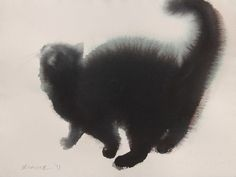 cat 7, watercolor or ink, by Endre Penovac