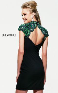 Sexy Sherri Hill 32038 Black Short Prom DressOutlet