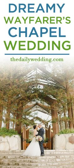 GORGEOUS wedding! View the full wedding here: http://thedailywedding.com/2016/01/16/dreamy-wayfarers-chapel-wedding-celeste-david/