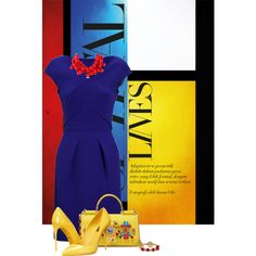 color block by bila-bee on Polyvore featuring Roland Mouret, Dolce&Gabbana and Kenneth Jay Lane